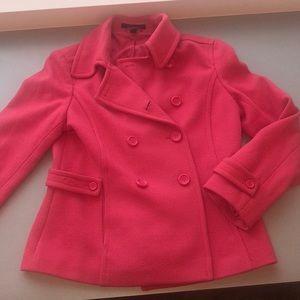 Pink Express pea coat